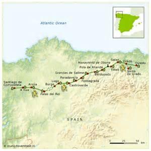 Map Camino Primativo